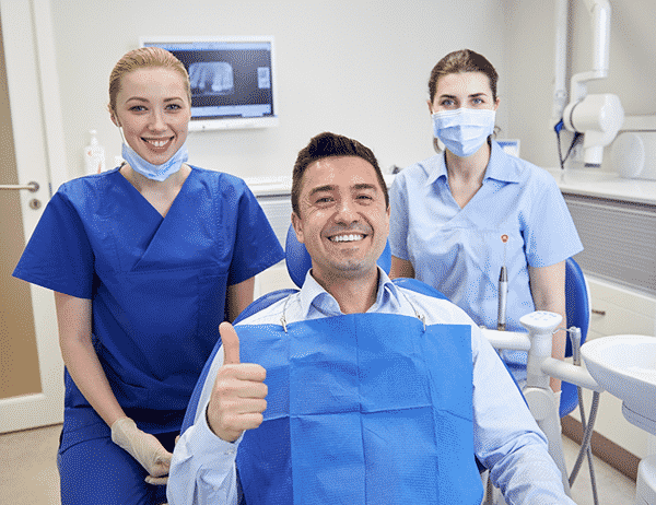 How to get a stubborn man to go to the dentist.